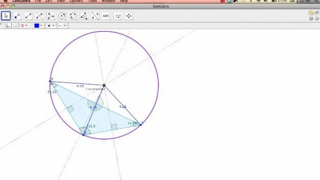 GeoGebra - Finding the Circumcenter - Kelly Castaneda